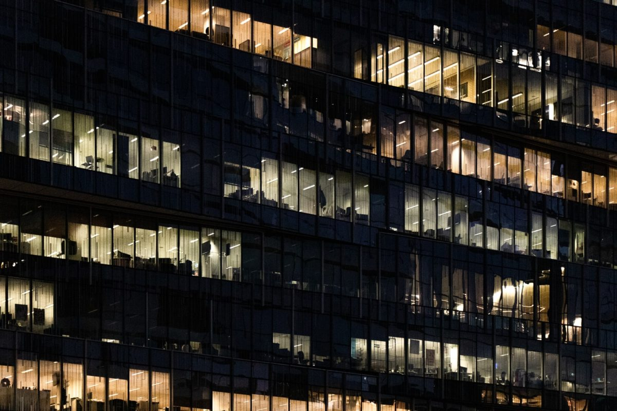office at night representing overtime regulations