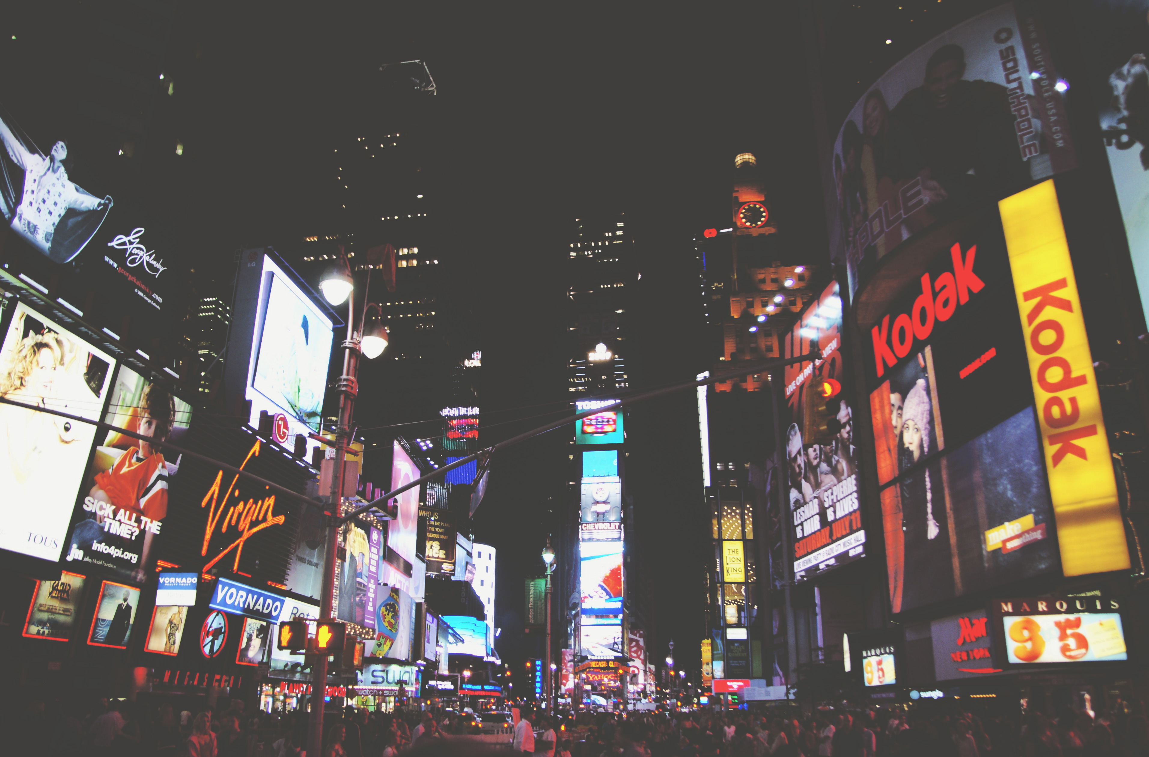times square to depict broker marketing