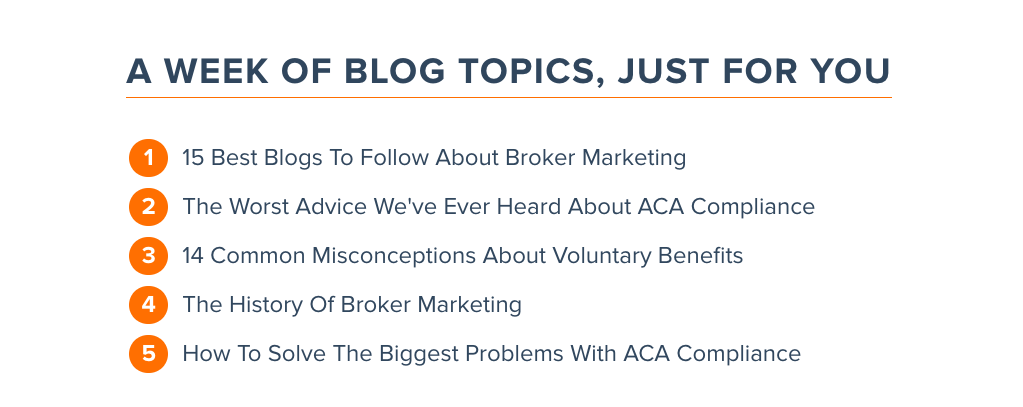 insurance agent blog strategy