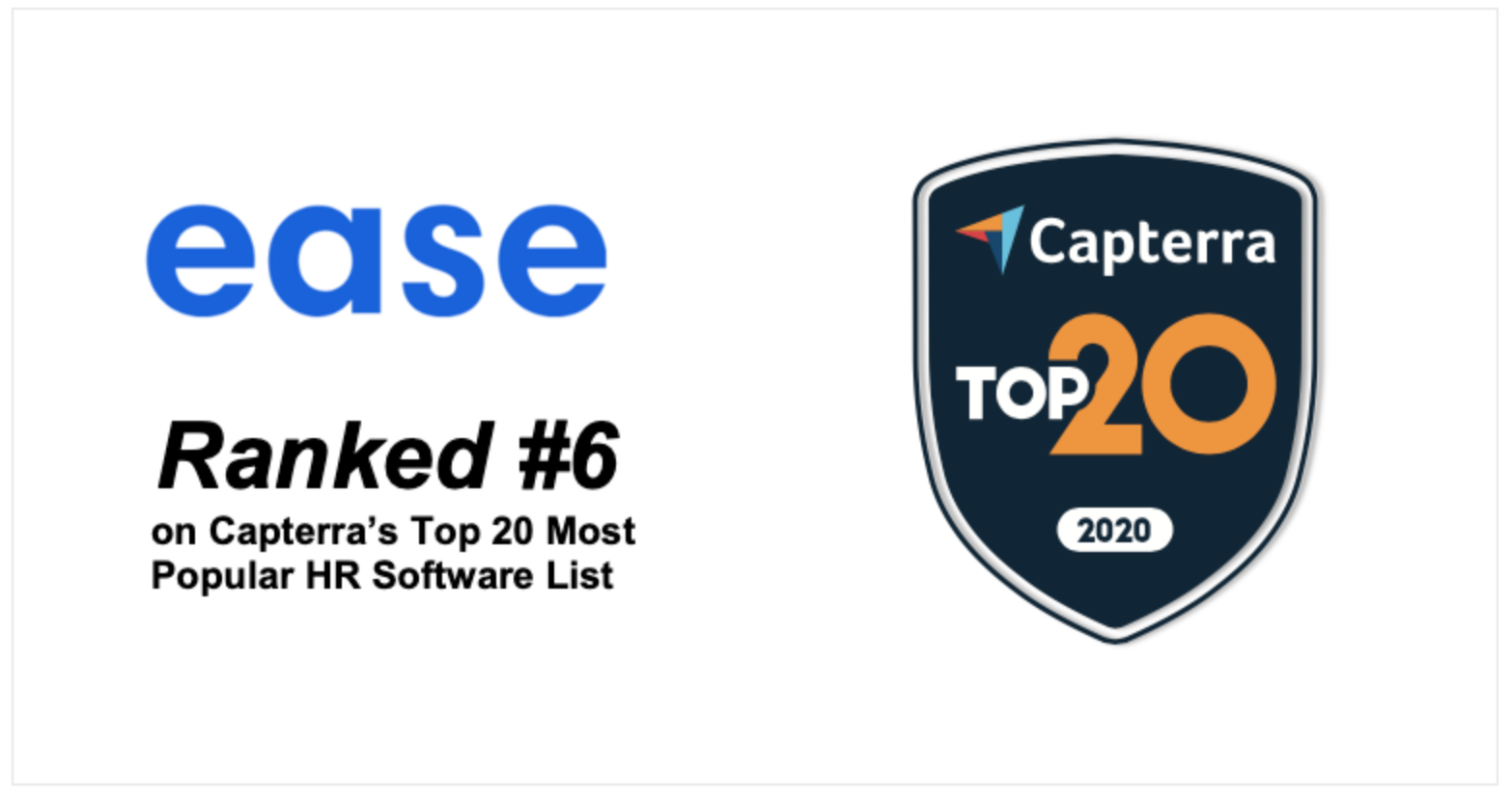 Ease Named in Capterra's Top 20 Most Popular Human Resource Software