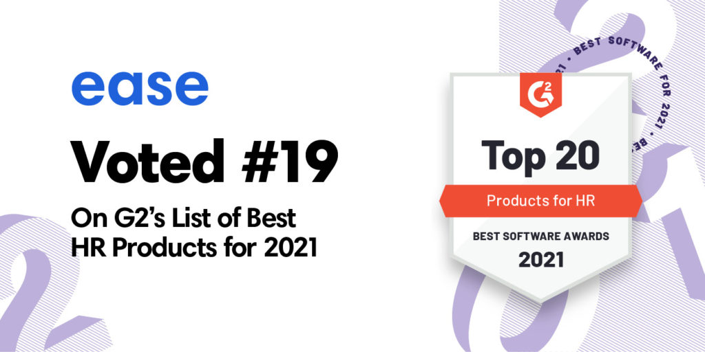 Ease ranked #19 in Best HR products